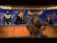 Sarah Palin and a dancing Moose on SNL