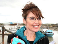 Sarah Palin smiling in Alaska