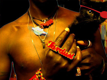 Saul Williams - NiggyTardust with his black cat