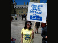 Facebook fan at Net Neutraility rally - Acroll's Flickr stream