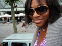 Serena Williams Ipod and sunglasses in Paris, France