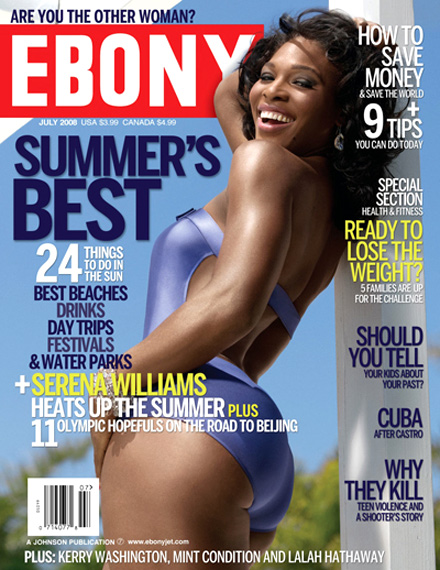 Serena Williams EBONY July 2008