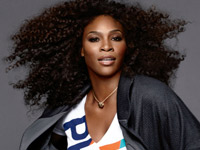 Serena Williams in Miami Dolphins Gear for NFL Ad campaign