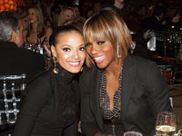 Serena Williams and Selita Ebanks at Women of Tomorrow 2010