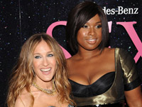 Sex and the City NY premiere - Jennifer Hudson and Sarah Jessica Parker
