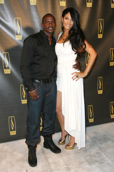 Keith Robinson and Lara Manoukian at Sinlesslife launch party