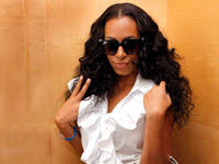 Solange Knowles in black sunglasses