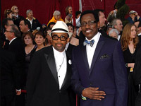 Spike Lee and Wesley Snipes on the red carpet