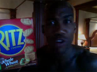 Stephon Marbury endorses Ritz crackers