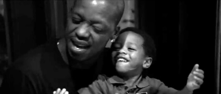 Steve Francis and his son