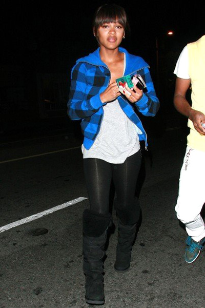 Meagan Good looking tired and odd