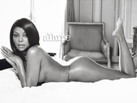 Taraji P. Henson posing for the Naked Truth issue