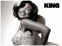 Tatyana Ali smiles for King Magazine