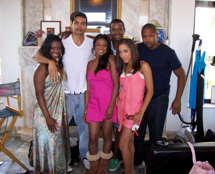 Tatyana Ali with the cast of Buppies