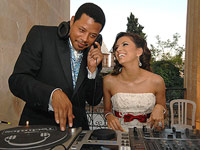 Terrence Howard DJing for Eva Longoria