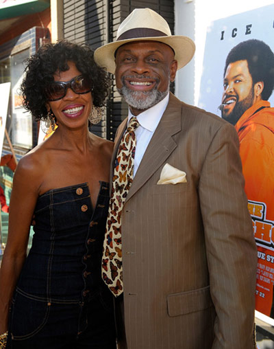 The Longshots movie premiere - Michael Colyar and wife Brooks