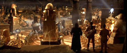 Treasure rrom scene from The Mummy.. movie
