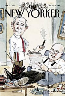 The New Yorker - Bush and Cheney kick back