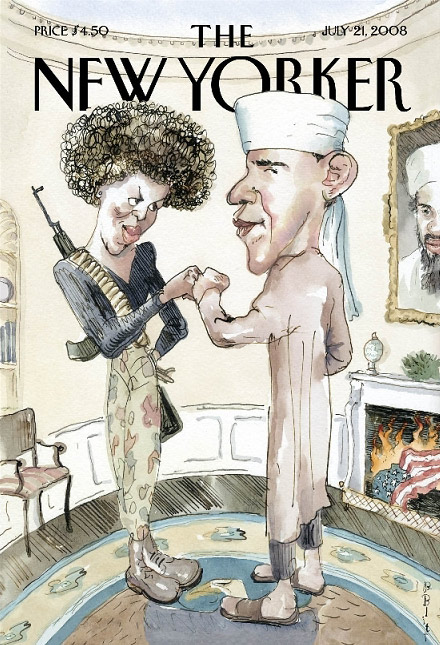 The New Yorker - Barack and Michelle Obama 'muslim' cover