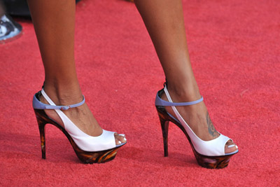 Eva Pigford's Jetson pumps at The Soloist premiere - that's not a brand