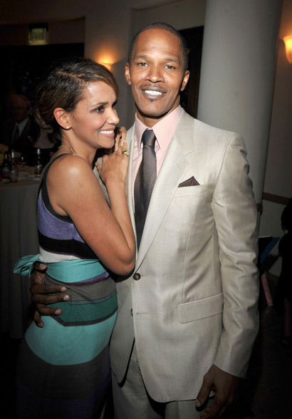 Jamie Foxx and Halle Berrys at The Soloist premiere