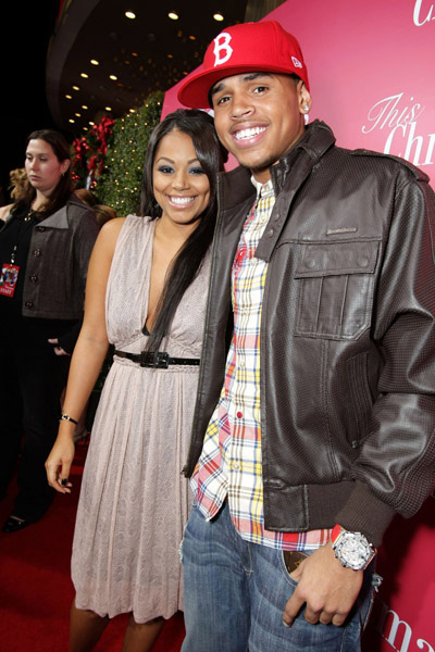 This Christmas movie premiere - Chris Brown, Lauren london