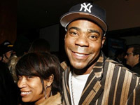 Tracy Morgan, Yankees cap and his soon to be ex-wife Sabina, black doo - 07' style