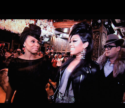 Trina and celeb stylist June Ambrose (and her assistant)  in Styled by June