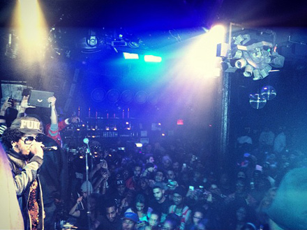 Trinidad James performing at Santos Party House, NYC via Twitter djlaser