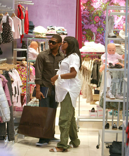 Usher and Tameka Baby Shopping