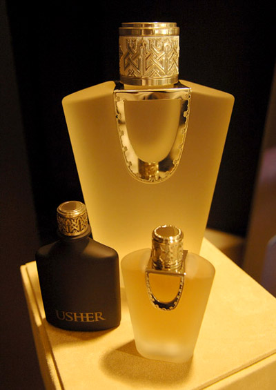 Usher for men, usher for women, the bottle