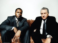 Robert Deniro and 50 Cent on Vibe's 2008 Hollywood Issue