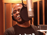 Wayne Brady in the studio