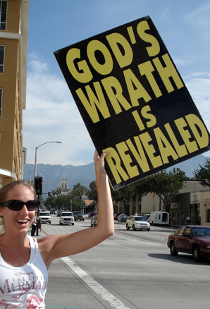 Westboro Baptist Church protest - god's wrath on the avenue