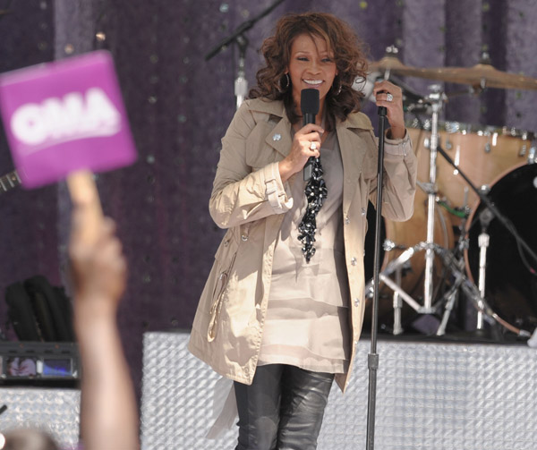 Whitney Houston on Good Morning America, Central Park performance