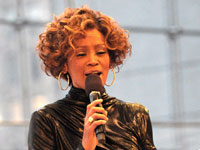 Whitney Houston at I Look to You listening event