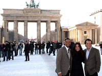 Will Smith and Rosario Dawson at Seven Pounds event in Berlin, Germany