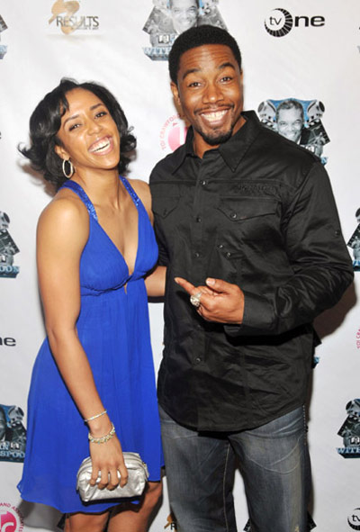 Alexis Witherspoon and Michael Jai White at TV One's John Witherspoon Roast and Toast