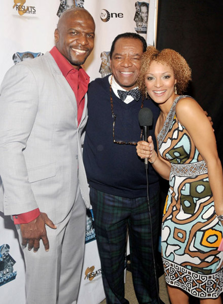 Terry Crews and John Witherspoon at TV One's John Witherspoon Roast and Toast