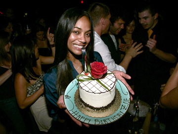 Zoe Saldana - 29th Birthday party - Tao Las Vegas