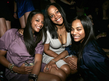 Zoe Saldana with Sisters - 29th Birthday party - Tao Las Vegas