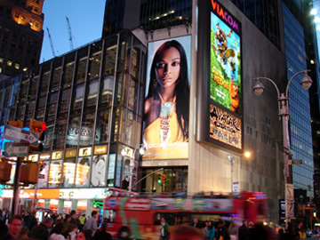 Zoe Saldana - Roc-A-Wear billboard - Times Square